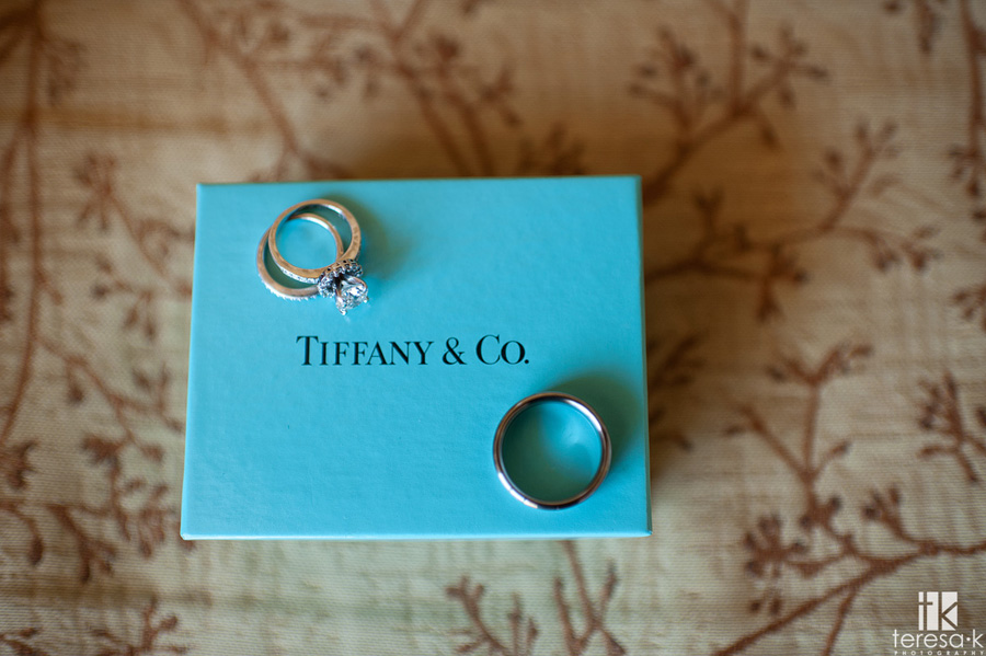 Tiffany rings at a North shore lake Tahoe wedding ceremony