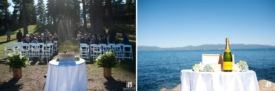 lake wedding in northern California