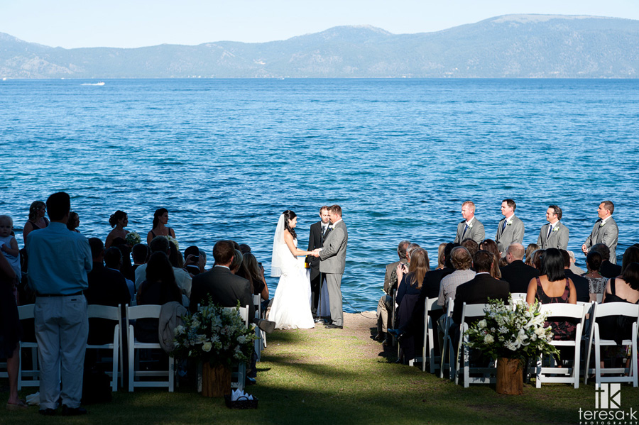 lake Tahoe wedding alter