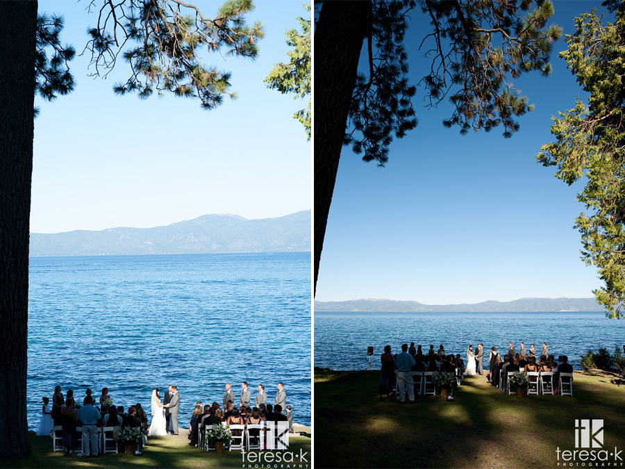 pine trees at lake Tahoe wedding