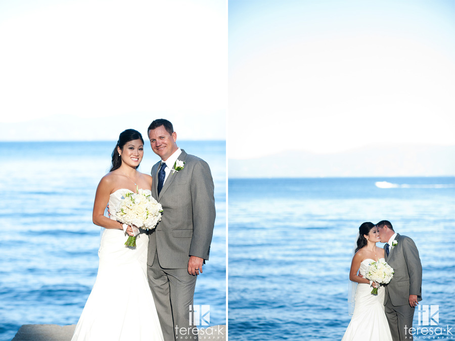 Tahoe water wedding photos