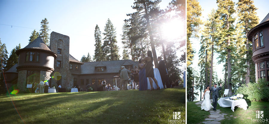 late afternoon Tahoe wedding reception