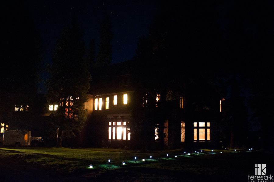 hellman-erhman mansion after dark