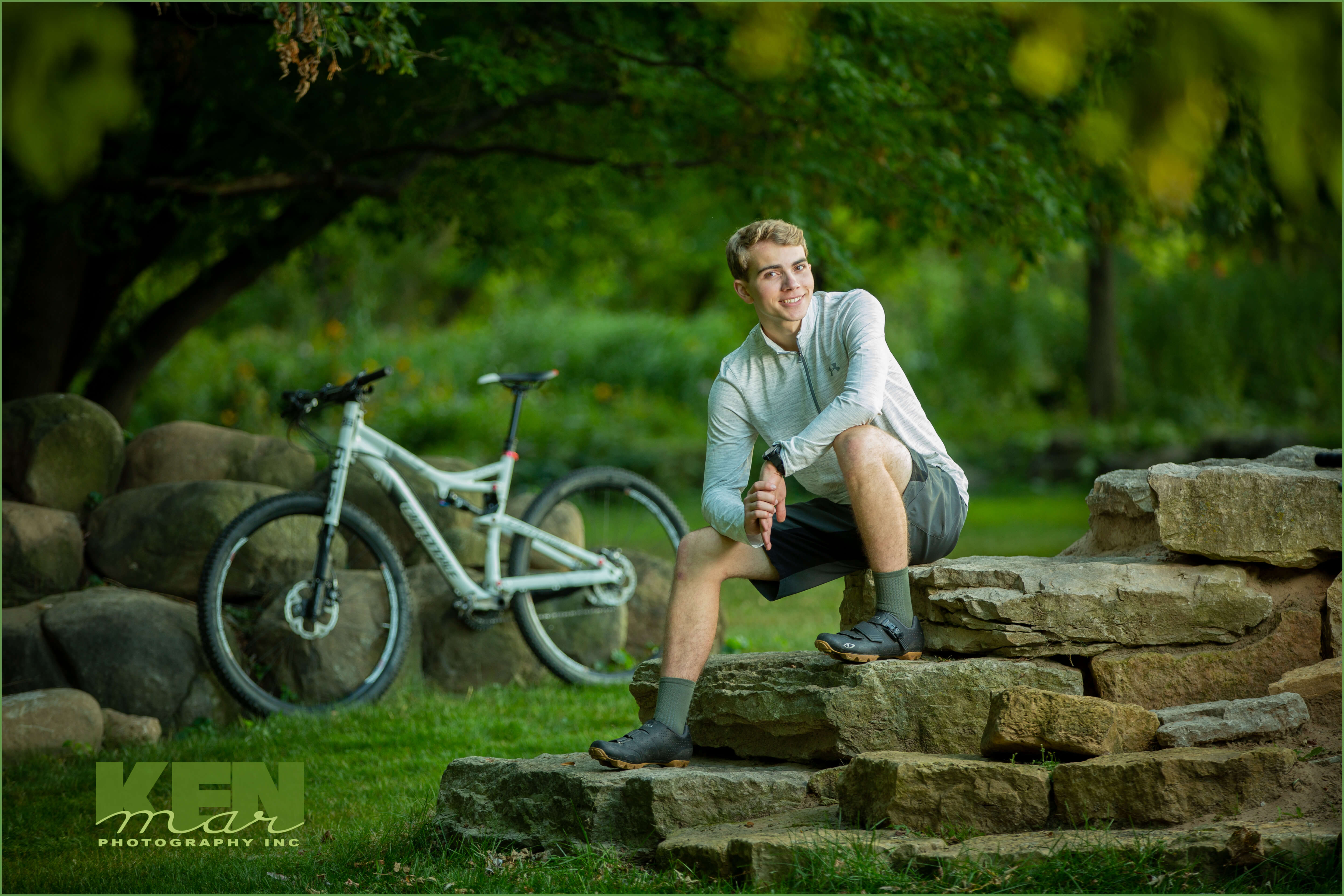 Young man posed outdoors