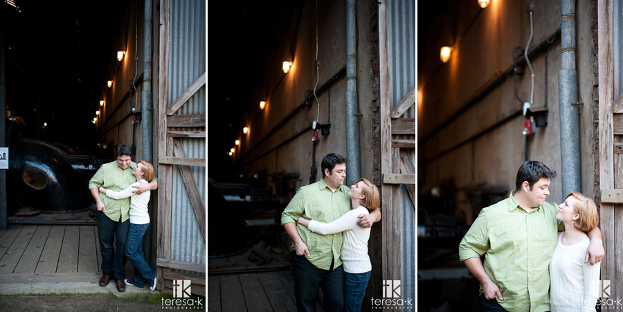 engagement session at the Folsom powerhouse by Folsom wedding photographer, Teresa K photography