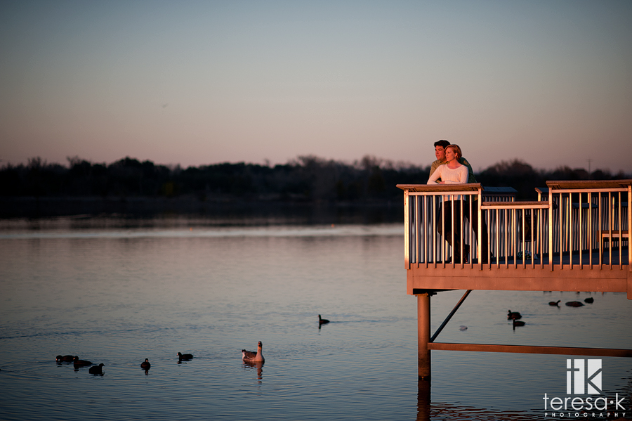 engagement session at the Lake Natoma by Folsom wedding photographer, Teresa K photography