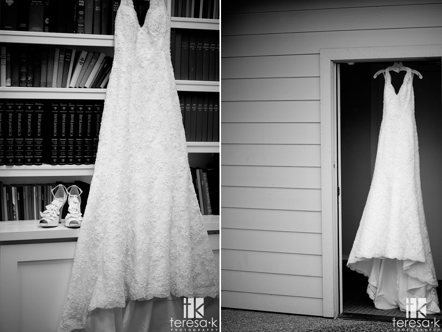 wedding dress and shoes from wedding at Jehovah's witness hall in Lincoln, Ca