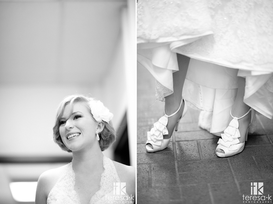 super cute bride in gorgeous wedding shoes