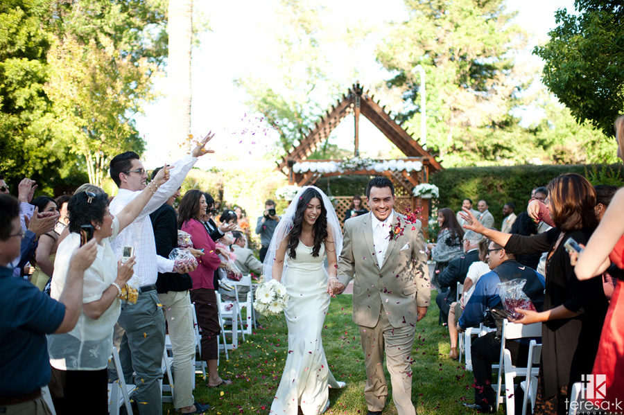 wedding at the General's Garden in Sacramento
