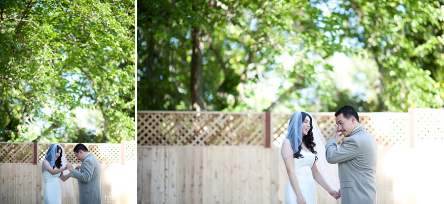 first look at Sacramento wedding in McClellan AFB
