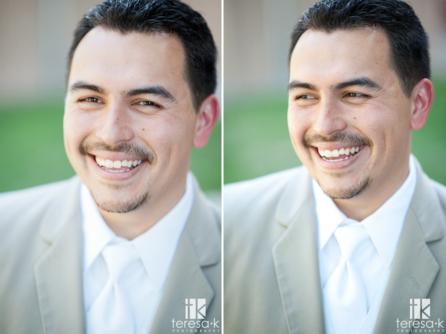 groom portraits from lions gate wedding in North Highlands