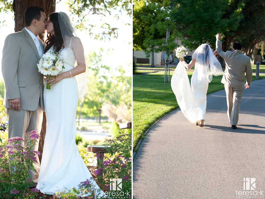 outdoor bride and groom portraits at Lions Gate Hotel and Conference Center Wedding