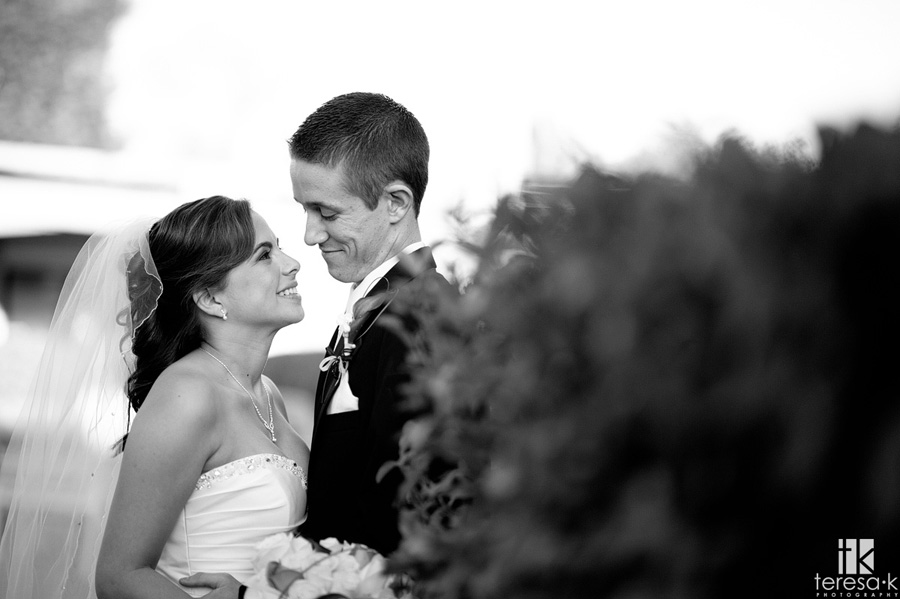 bride and groom portrait at Arden hills
