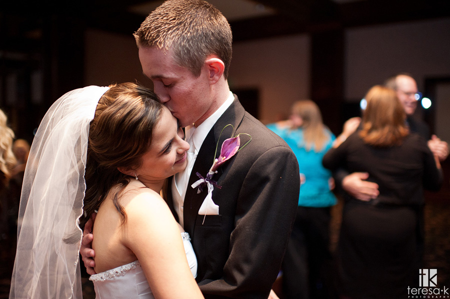 special moment with bride and groom from Arden hills