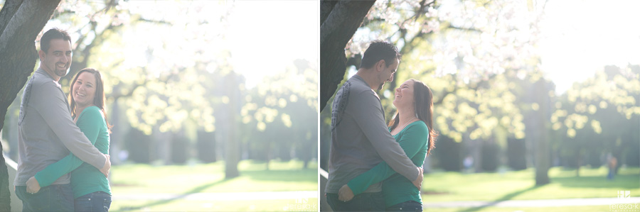 backlight in engagement photo