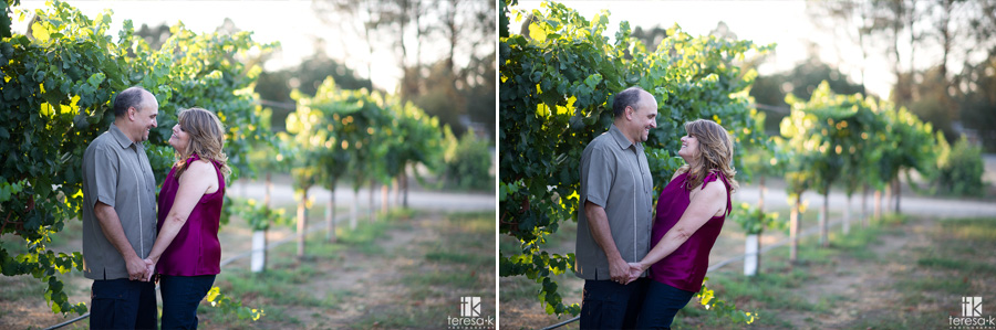 grapevine images of couple at UC Davis