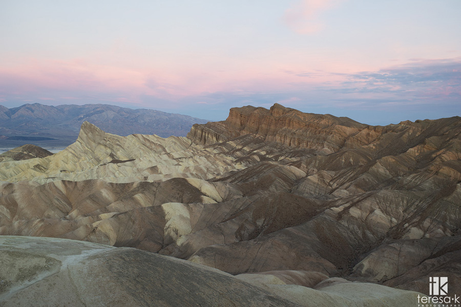 sunrise at zabriske point
