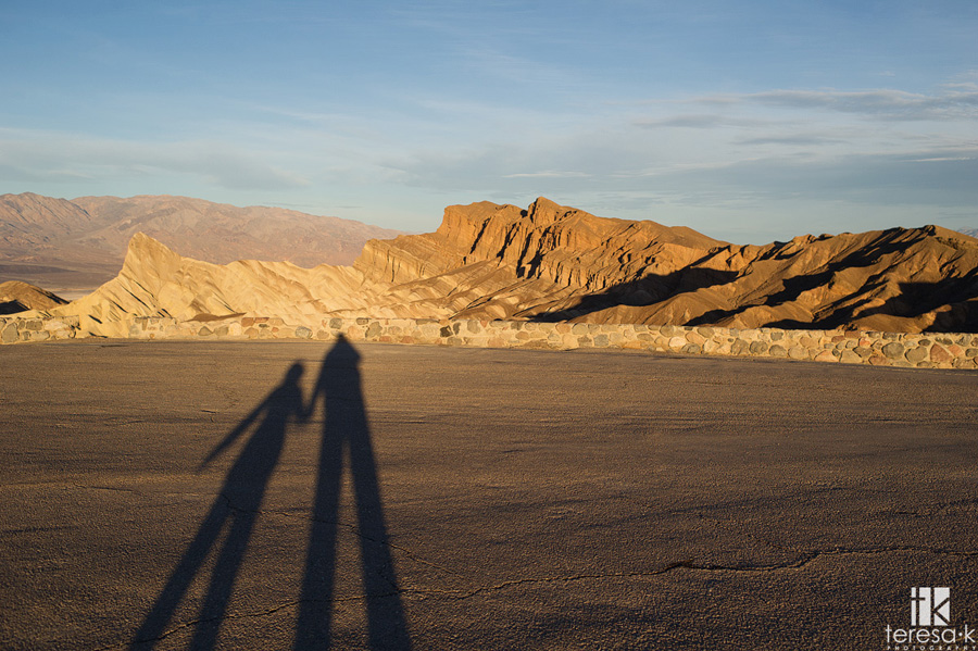 long shadows in death valley