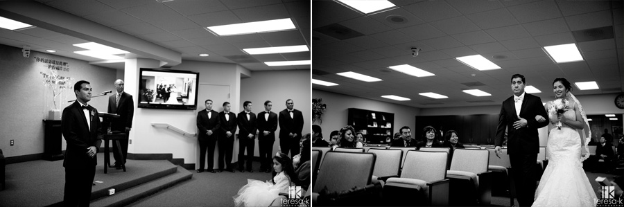 Oakland Kingdom Hall of Jehovah's witnesses wedding