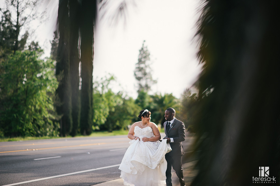 bride and groom at arden hills sacramento