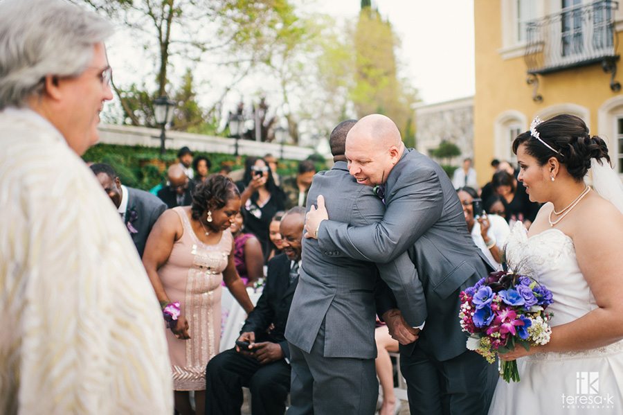 father giving his daughter away at wedding