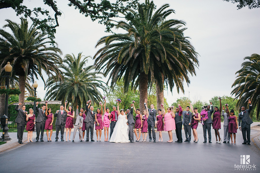super large wedding party