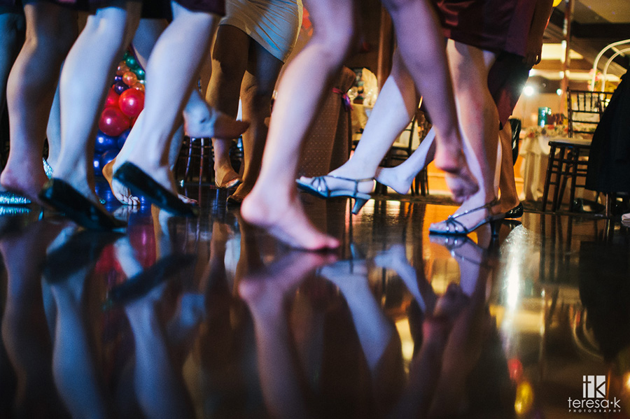 feet getting crazy on the dance floor