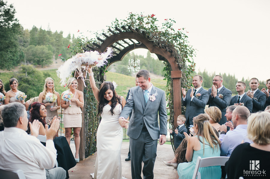Saluti Cellars Placerville Winery Wedding